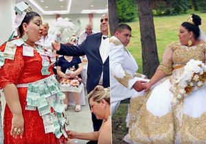 Pompézní veselku si vystrojila »princezna« Eva ze slovenských Michalovců. A jejím vyvoleným se stal Lukáš původem z Ústeckého kraje. To byla romská svatba jako bič.