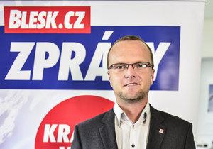 Lídr kandidátky ČSSD a současný hejtman Pardubického kraje Martin Netolický