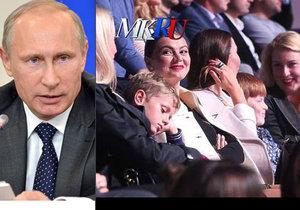 Alina Kabajeva vyvedla do společnosti děti. Jsou to potomci Putina?