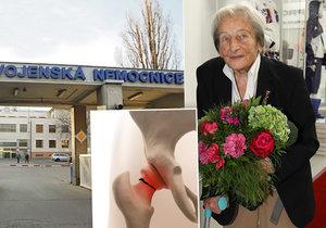 Dana Zátopková si zlomila krček a několik hodin doma ležela bezmocná na podlaze.
