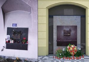 Průchod Kaňkova paláce na Národní třídě, kam každý rok chodí uctít památku 17. listopadu tisíce lidí, bude zastavěn. Pomník se posune před budovu.