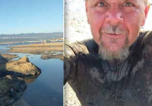 Léčivé bahno se nachází na pláži Melina na chorvatském ostrově Krk.