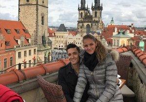 Karolína Plíšková s Michalem Hrdličkou na nedělním obědě