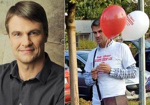 Petr Sýkora ještě před pár dny rozdával v rámci kampaně balónky dětem. V politice ale možná kvůli útokům konkurentů skončí. Je totiž zadlužen a oponenti na to rádi upozorňují.