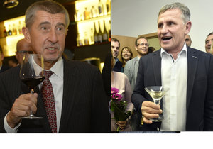 Krajské volby 2016: Andrej Babiš se radoval z vítězství ANO v devíti krajích, Jiří Čunek z triumfu lidovců ve Zlínském.