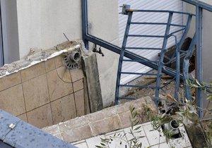 V Olomouci se zřítil balkon se čtyřmi lidmi: Po pádu z několika metrů skončili v nemocnici