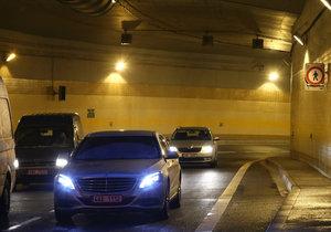 Tunel Blanka čeká série nočních uzavírek kvůli údržbě.