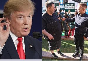 Luboš Xaver Veselý byl přímo v sále: Hodil bych to Trumpovi!