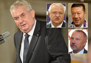 Kdo podpořil Miloše Zemana a jeho oslavu 28. října? ANO, komunisti i Okamura.