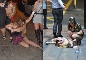 V Newcastlu zažily holky hodně opilý Halloween.