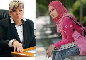 Kvůli zákazu nosit hidžáb zažalovala dívka ze Somálska pražskou střední zdravotnickou školu! Její ředitelka Ivanka Kohoutová tak míří před soud.