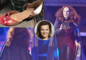 Marta Jandová se pochlubila zkrvavenou botou ze svého vystoupení jako Meat Loaf.