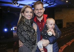 Martin Chodúr s partnerkou Ivonou a synem Martínkem