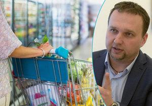 Marian Jurečka by chtěl, aby byly v českých obchodech kvalitnější potraviny.