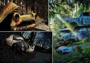 Z nablýskaných bouráků jsou hromady šrotu: Kde v Evropě najdete »hřbitovy aut«?