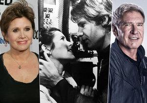 Bylo to vášnivé! Princezna Leia a Han Solo měli románek i mimo filmové plátno.