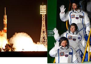 K vesmírné stanici vyrazili tři kosmonauti i s jídlem na Vánoce.