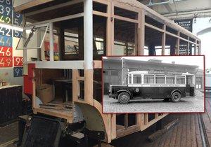 V Muzeu MHD v Praze dávají dohromady stařičký autobus Škoda 506 N.