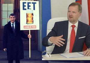 EET Babiš prosadil, levnější pivo nikoli. Právě kvůli EET chce změny u piva i ODS Petra Fialy.
