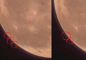 Záhadné předměty odlétly z povrchu měsíce. Jde o stovky UFO?