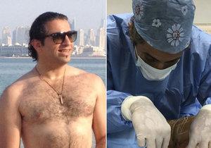 Na bratislavské klinice, kde operoval Yassine Ghazi, šeredně pokazili operaci křečových žil.