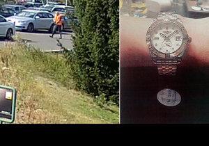Luxusní hodinky a peníze v kufříku: Zloděj ukradl z auta věci za 700 tisíc.