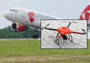 Drony ohrožují letadla i v Česku. (ilustrační foto)