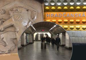 Stanici Hradčanská otevřeli v roce 1978 a je jednou z nejhlubších.
