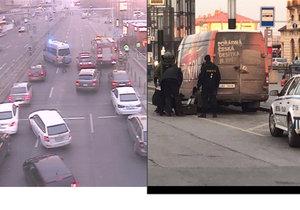Auta kolem hlavního nádraží směrem do centra mezi 15. a 16. hodinou neprojela. Na místě zasahoval pyrotechnik.