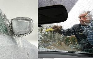 Muž (62) nechtěl škrábat namrzlé auto, nasedl a vyjel s vystrčenou hlavou z okna. Ilustrační foto