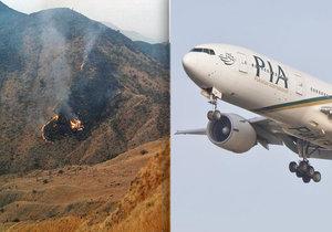 Letadlo společnosti Pakistan Internation Airlines se zřítilo kousek od letiště.