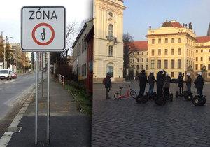 Dopravní značky jsou na některých místech v Praze již nainstalované, zatím ale neplatí.