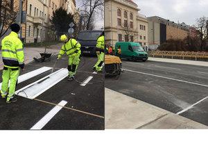 Rekonstrukce Korunovační ulice po dlouhých měsících finišuje.