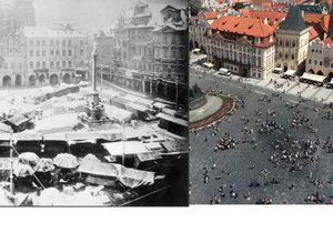 Věděli jste, že na Staroměstském náměstí stával mariánský sloup?