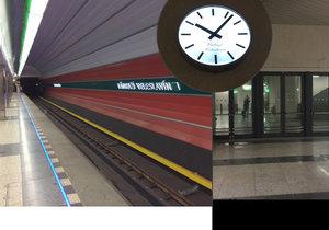 Stanice metra Veleslavín funguje od jara roku 2016. Zaujmou vás tu nádražní hodiny i dveře do nikam.