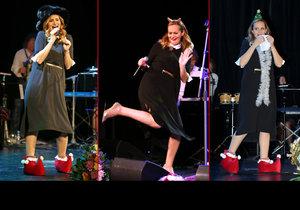 Monika Absolonová se rozdováděla na svém vánočním koncertě.