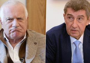 Václav Klaus kritizuje státní rozpočet.