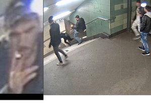 Policie identifikovala muže, který skopl ženu v berlínském metru.