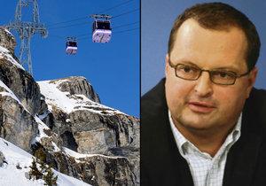 Radovan Vítek plánuje obří investice do lyžařského areálu ve Švýcarsku.