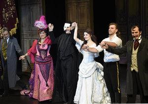 Muzikál Fantom opery se hrál dva a půl roku.