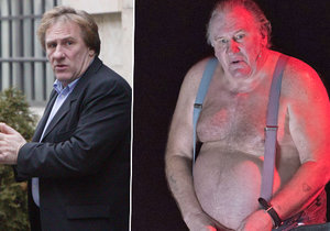 Gérard Depardieu pořádně přibral.