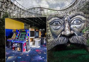 Opuštěný zábavní park Boomers! na Floridě