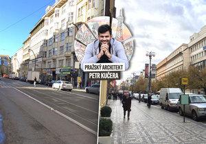 Ulice Národní a Na Příkopě v Praze 1 byly už v minulosti oblíbeným promenádním místem. A také symbolem svárů mezi Čechy a Němci