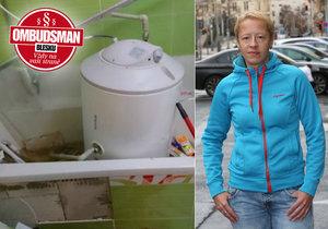 Elektrický kotel, který se utrhl ze zdi, způsobil paní Petře Hudíkové obrovské škody. Pojišťovna jí navíc nedá ani korunu!
