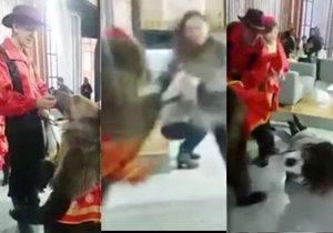 Medvědice drsně zaútočila na moderátorku při živém vysílání.