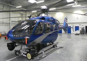Do akcí k záchraně lidských životů bude z brněnského letiště vzlétat modrý vrtulník EC 135.