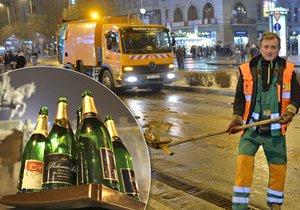 Úklid metropole po silvestrovských oslavách Prahu vyšel na necelý milion korun.
