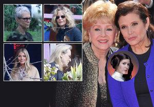 Na pohřeb Carrie Fisher a Debbie Reynolds přišla řada hvězd.