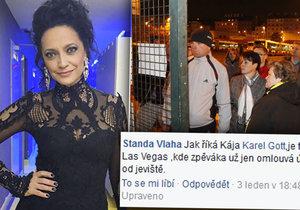 Lucie Bílá schytává kritiku od fanoušků za nevyhovující časy náhradního koncertu v neděli.