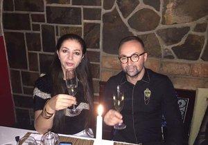 Nora Mojsejová a její manžel Versace Kabrheľ oslavili roční výročí svatby.